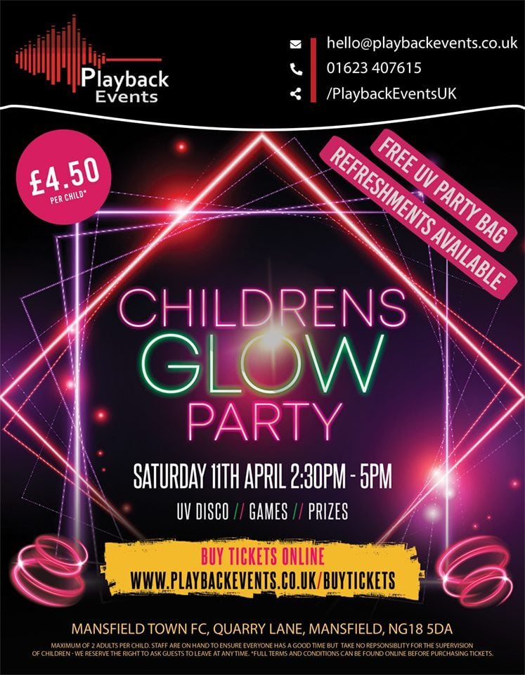 Easter Children's UV Glow Party